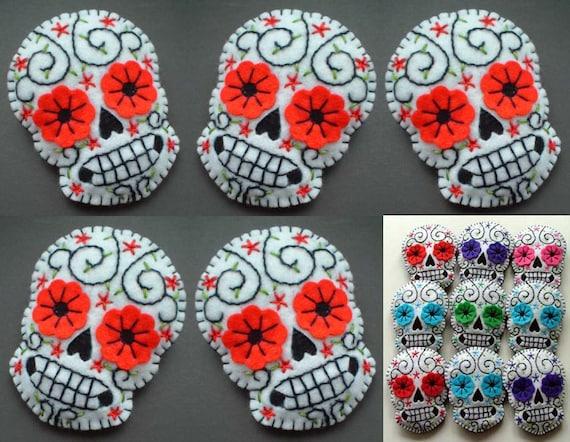 5 Sugar Skull Christmas Decorations