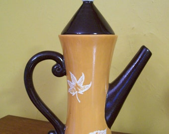 TEAPOT, Handpainted, Oak Leafs, ON SALE, was 25.00 Now 14.99