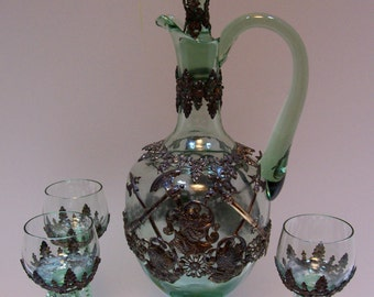Decanter, Barware, Roemer, Wine Glasses, Decanter, Antique Decanter, Theresienthal Roemer, Karaffe and Rummer On sale was 645.00 Now 575.00s
