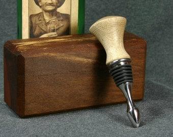 Wood Wine Bottle Stopper Myrtle 266B
