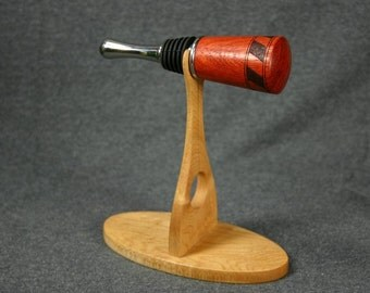 Wine Bottle Stopper Display Stand Hard Birdseye Maple