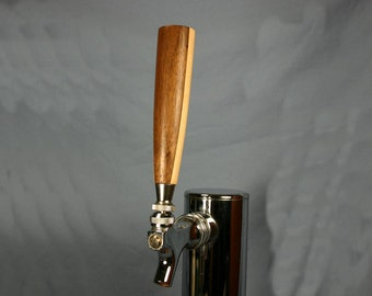 Wood Beer Tap Handle - Black Walnut and Rock Maple - 5.5 inches tall - Made to Order