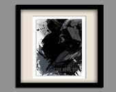 Darth Vader science fiction Star Wars geekery fine art style illustration in grey white black