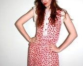 1940s sweetheart novelty print day dress