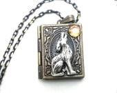 Twilight Inspired Wolf Locket Necklace