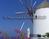 Travel Fantasies- Windmill- Santorini, Greece