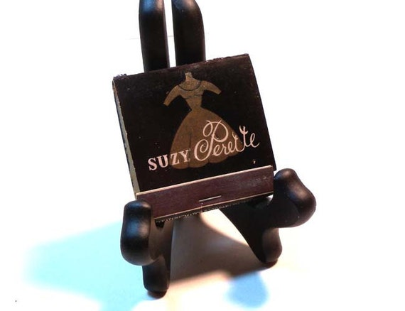 Very Rare Vintage 1950s Suzy Perette Dress Picture Matches Matchbook Unused