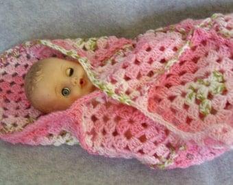 Rosies Blanket for Baby Doll or Preemie