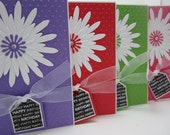 Set of 4 Happy Birthday Daisy Cards