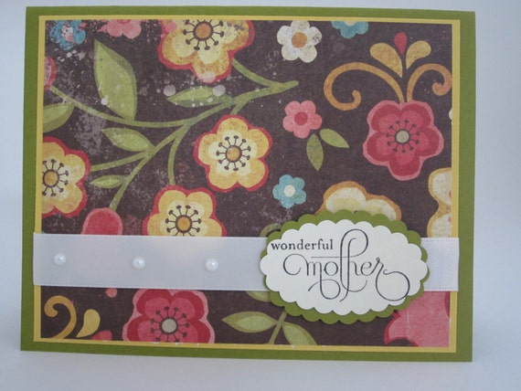Elegant happy mothers day or birthday card 001 by for Classy mothers day cards