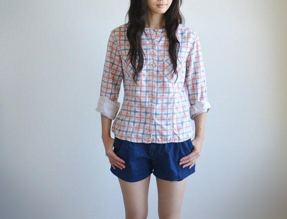 Vintage LEVI'S cotton plaid shirts.