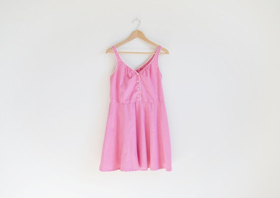 Vintage pink sleeveless day dress (Reserved for Lisa)