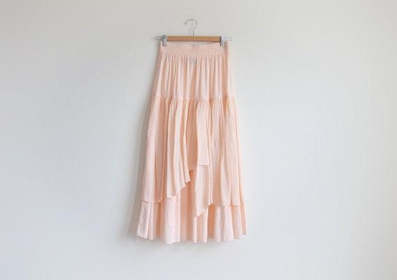 Vintage METROPOLE peach maxi skirt.