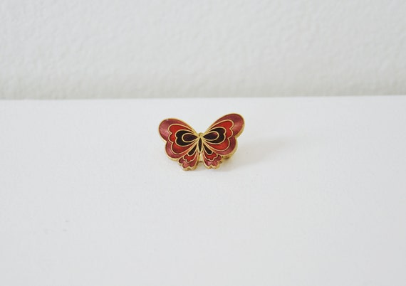 Vintage pink butterfly brooch.