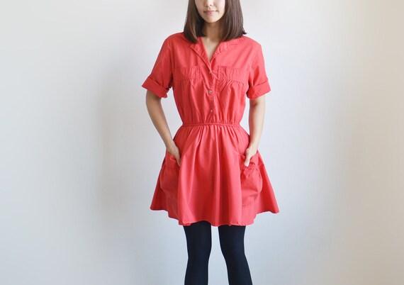 Vintage KAY BRANDON red jumper dress.