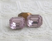 LOW STOCK Qty 4 10x8 Octagon Light Amethyst Purple Swarovski Loose Rhinestones