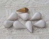 8x4.8 mm White Swarovski Glass Rhinestone Pear Qty 8