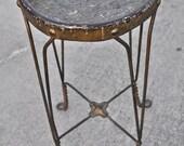 Vintage Twisted Metal Stool