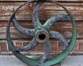Vintage Industrial Machine Wheel/ Gear