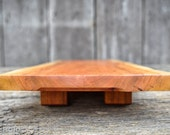 Solid Cherry Live Edge Serving Platter - Cutting board - for two - plate - presentation - rustic - sustainable - 34x12x3 - sushi - gift