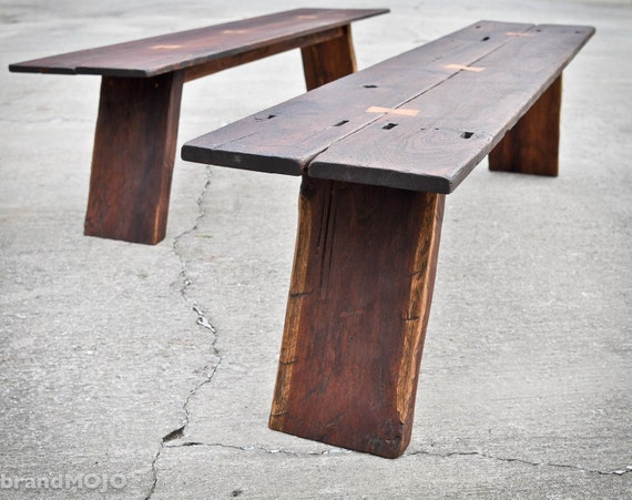 Reserved for Darren Boyd - Reclaimed Butterfly Bench 77x20x18 elegant rustic reclaimed boards ooak primitive teak