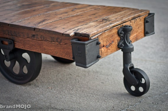Industrial Factory Cart Coffee Table / Lineberry