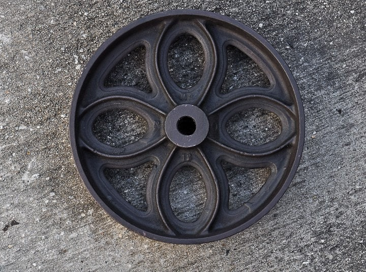 Vintage Cast Iron Cart Wheel Rosette By Brandmojointeriors