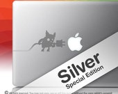 PLUG-N-PLAY Silver - MacBook decal laptop vinyl sticker