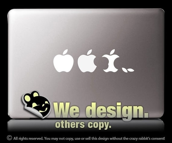 Mac Evolution White - Vinyl sticker, MacBook laptop decal