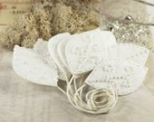 Vermont - Ivory fabric beaded leaves great for Christmas