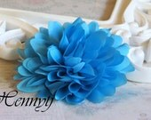New to the shop: Turquoise  - Dahlia Silk Flower Millinery for Bridal Sashes, Fascinator or Hat Design, or Home Decor
