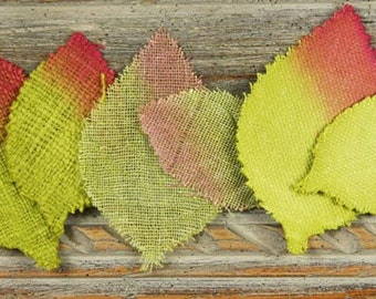 Calcutta Burlap Fabric Leaves Green Forest for scrapbooking cardmaking journal making and many more