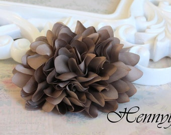 New to the shop: Coffee - Dahlia Silk Flower Millinery for Bridal Sashes, Fascinator or Hat Design, or Home Decor