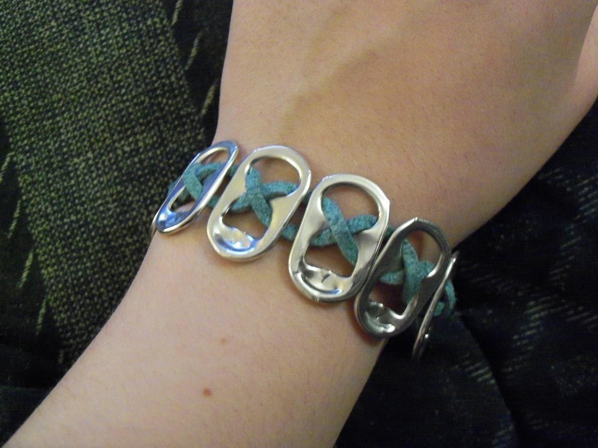 Bella Swan Kristen Stewart poptab bracelet Forks Sky Blue
