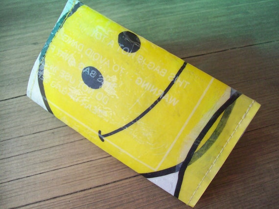 Business Card Holder Case, Recycled Happy Face Free Shipping in US