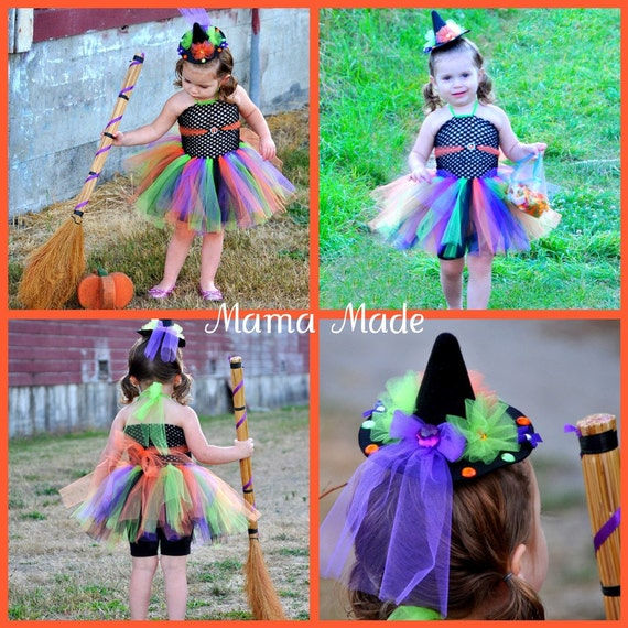 Witch Tutu Dress and hat,witch costume,witch tutu costume,witch Halloween costume,girls witch costume,witch hat,witch tutu costume,halloween