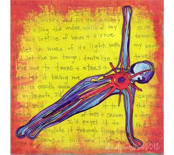 Yoga Art: Capturing Sunlight (6x6 Fine Art Print)