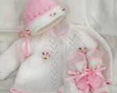 Pink and White Sweater Set-0-3 mo.