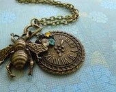 Time keeps Buzzing on Bronze Pendant