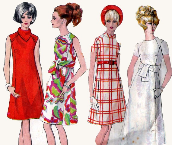 60S Vintage Sewing Pattern Vogue 1962 Basic Dress TLC No Sleeve  Size 10  Bust 32 1/2