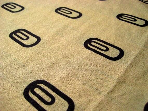 Vintage fabric in brown geometric pattern - Yardage