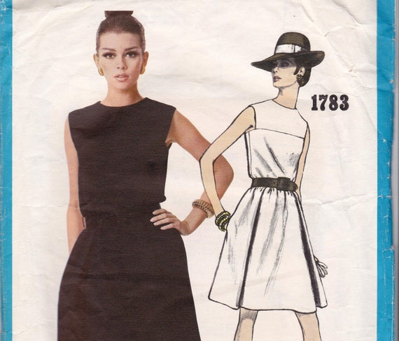 Sz 14 Vintage 60s Vogue Americana Sewing Pattern 1783 Dress by Chester Weinberg Size 14  Bust 34 UNCUT FF