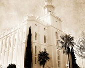 St George Utah LDS Temple 11 x 14 photograph