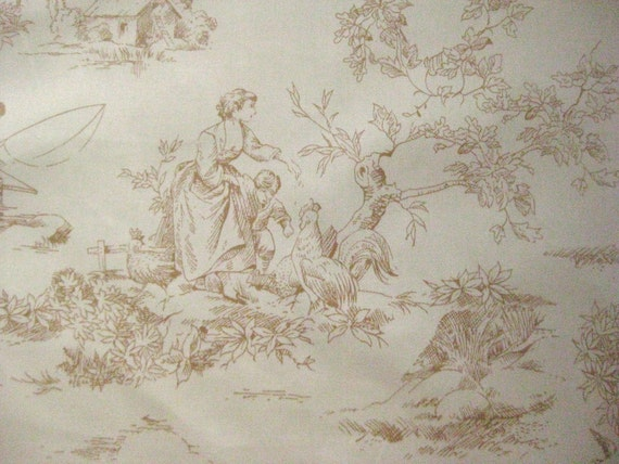 Thibaut La Fontaine toile fabric, by the 1/2 yard, 20 yards available