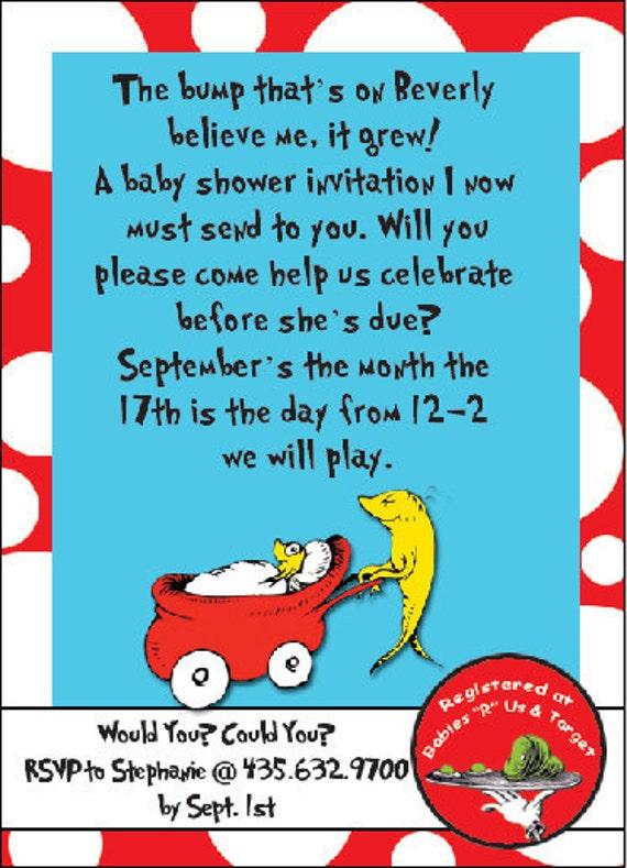custom dr seuss baby shower invitations