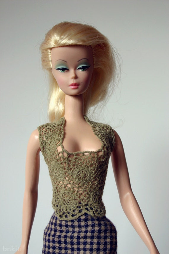 """Lacy crochet tops for 12"""" dolls"""