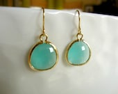 pacific blue earrings - simple modern gemstone jewelry