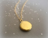 little keeper - sentimental and sweet gold locket - 14k gold filled chain - everyday classic jewelry
