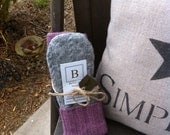 Gray Lavender Mix Recycled Sweater Mittens