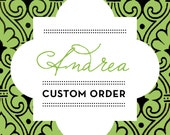 Custom Listing - For Andrea S. Only - 100 Quantity - Royal Script Kraft Favor Bags